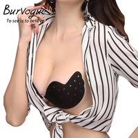 Self Adhesive Push Up Silicone Bust Front Closure Strapless Invisible Bra Sets