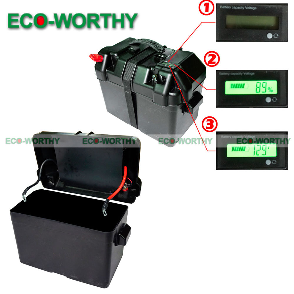 12V Battery Box With intelligent LED display for Automotive Caravan RV Batteries-in Battery Storage Boxes from Consumer Electronics    1