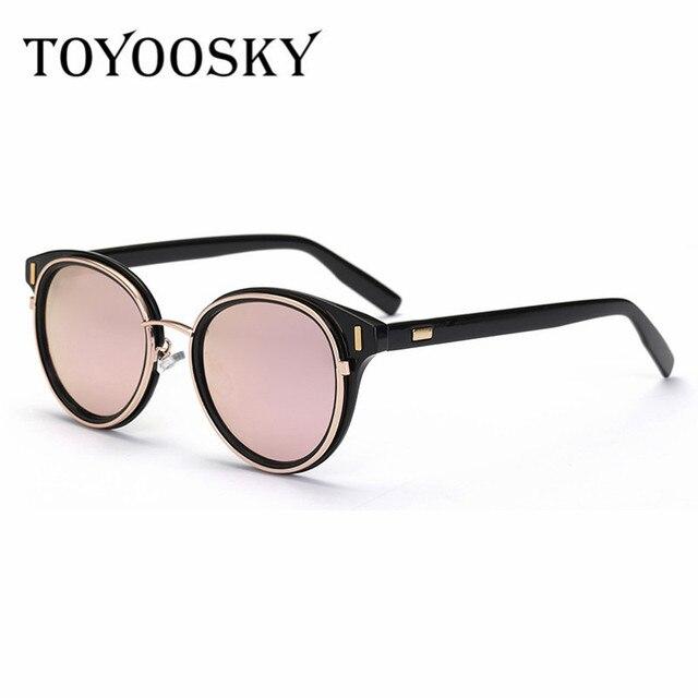 ca89f459160277 TOYOOSKY Vintage CatEye Celebrity lunettes de Soleil Hommes Femmes Marque  de lunettes de Soleil Rivet Miroir