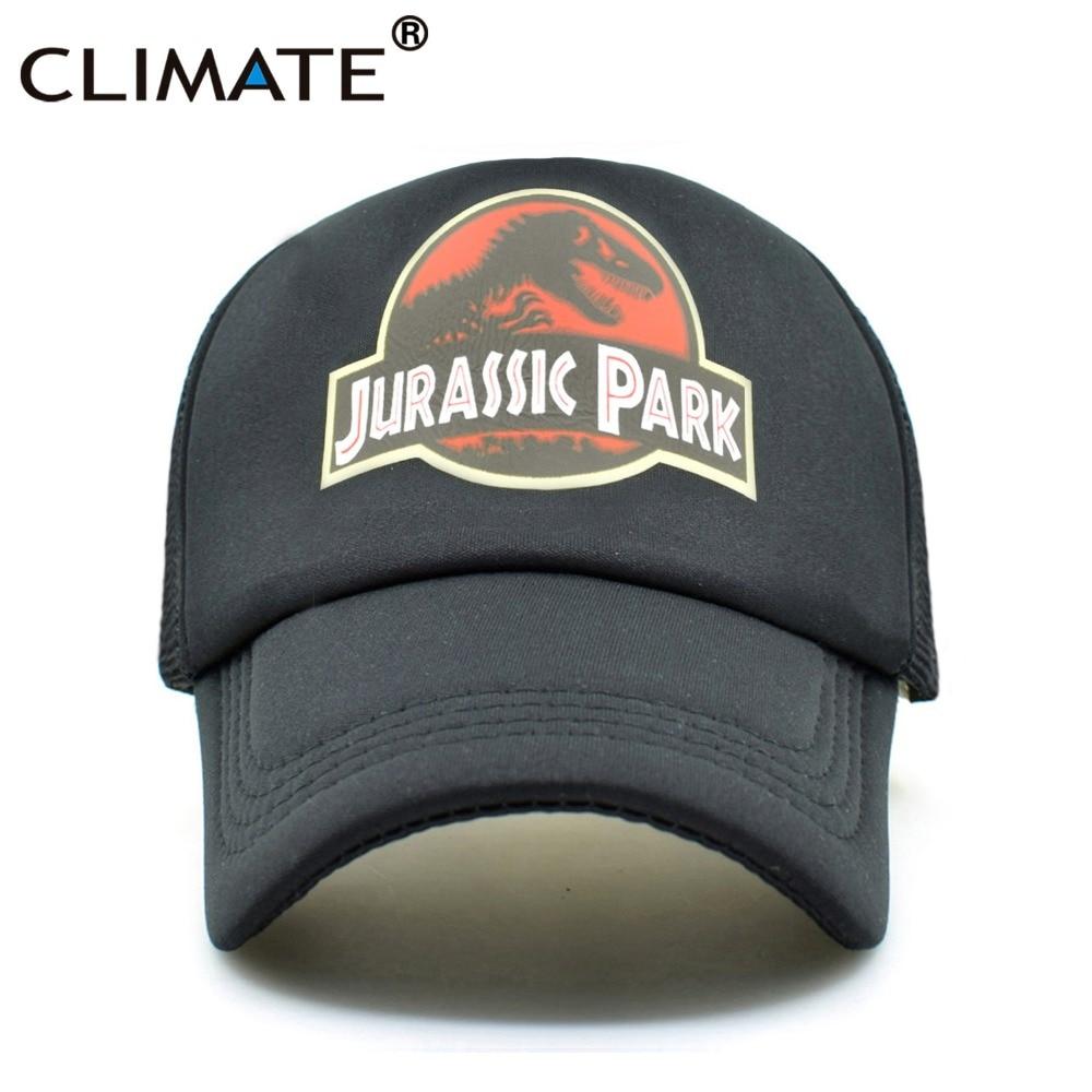 CLIMATE Jurassic Park Dinosaur Trucker Caps Adjustable Jurassic Park Women Cool Summer Cool Mesh Baseball Caps Hats