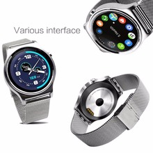 Bluetooth 4,0 SmartWatch herzfrequenz Smart Uhr Schrittzähler Uhr IPS Runde Bildschirm Leben Wasserdicht Für Android iOS