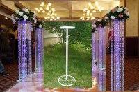 Mariage perles rideau cadre conducteur Routier/décoration de mariage, 10 pcs/lot, plomb cadre, support, support, soutien stand De Mariage Pilier
