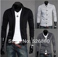 Горячая распродажа блейзер 2016 новое поступление осень одежда мужская мода свободного покроя однобортный мальчик тонкий Terno вязания пиджака