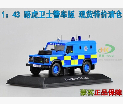 Defender Police version 1:43 SUV car model original alloy metal diecast collection gift blue Luxury JEEP  kids toy limit