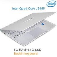 "intel celeron כסף P9-16 8G RAM 64G SSD Intel Celeron J3455 19"" מחשב שולחני מחברת משחקים ניידת עם מקלדת מוארת (1)"