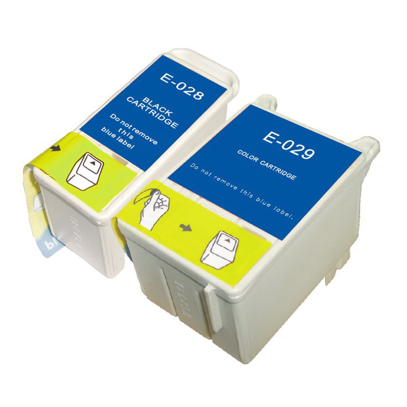 Full Ink 2 PCS Ink Cartridge T028 T029 Printer for Epson C60 61 CX3100 with chip