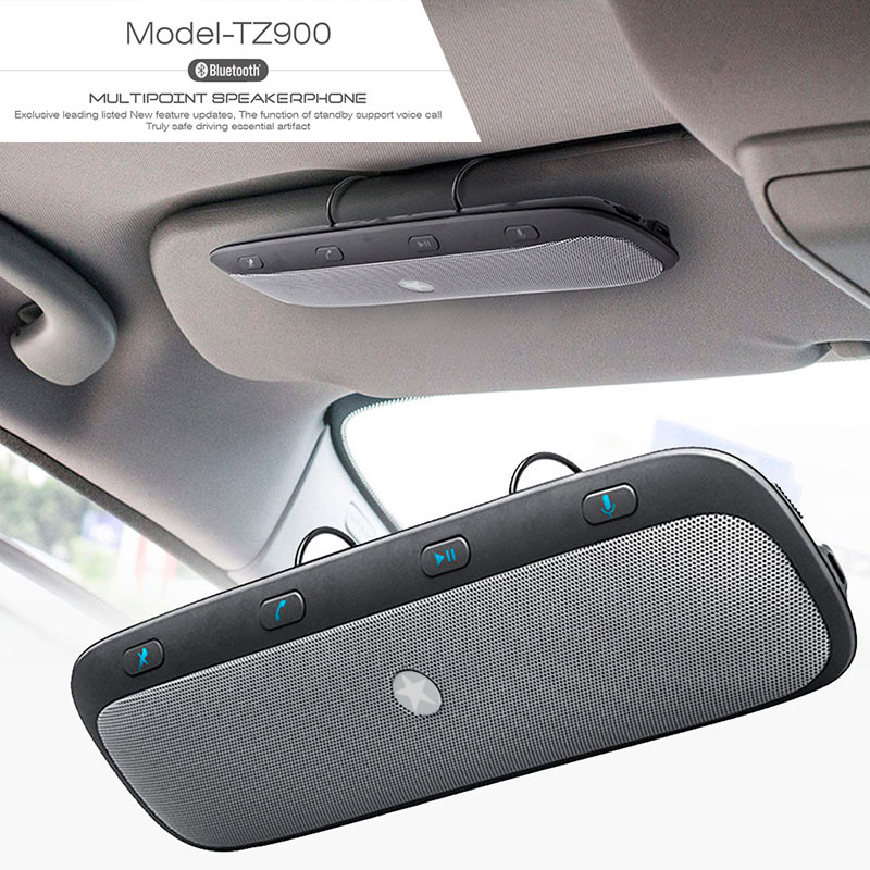 Kit Mobil Handsfree 10M Bluetooth Nirkabel Speakerphone Audio Speaker Musik untuk iPhone Samsung Smartphone Car Handsfree Bluetooth