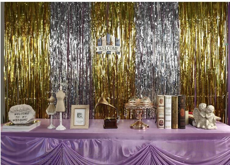 Golden Rain Curtain Tassel Garland Wedding Backdrop