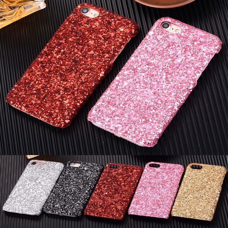 Bling glitter case untuk iphone 7 8 plus asli hard case untuk iphone - Aksesori dan suku cadang ponsel - Foto 1