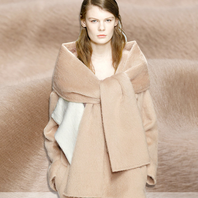 db08af605a Long wool fabric Alpaca Peruvian camel autumn and winter alpaca woolen coat clothing  fabric wholesale high