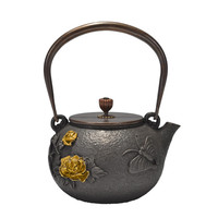 1.2L Old Cast Iron Tea Pot Japan Penoy Kettle Handpainted Creative Drinkware Hot Sale