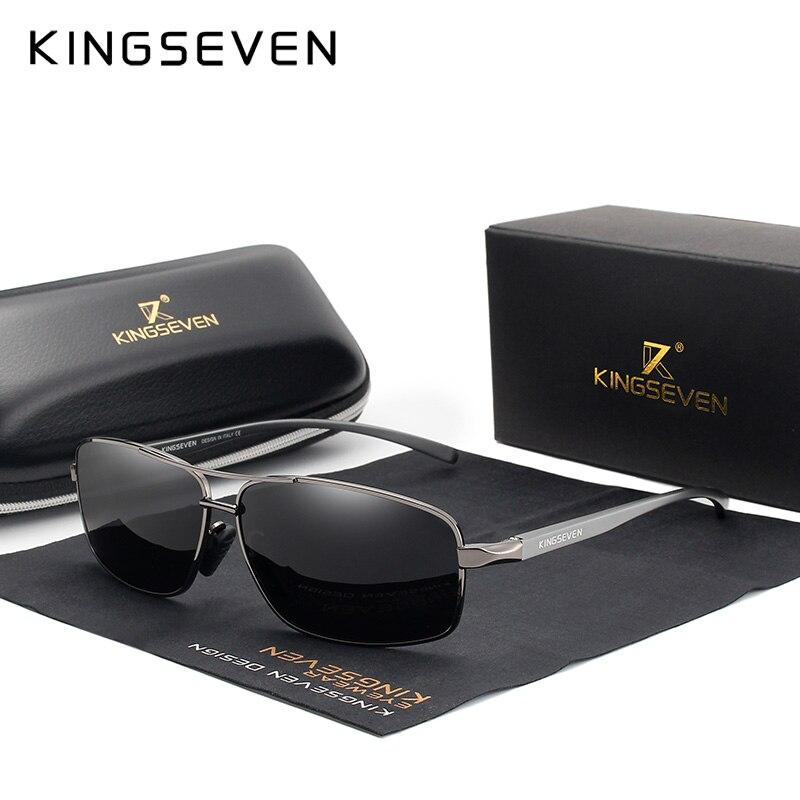 6cc3658be KINGSEVEN Retro Vintage Marca Designer óculos de Sol Dos Homens Polarizados  Homens Shades óculos de Sol Quadrado Clássico UV400 N7088