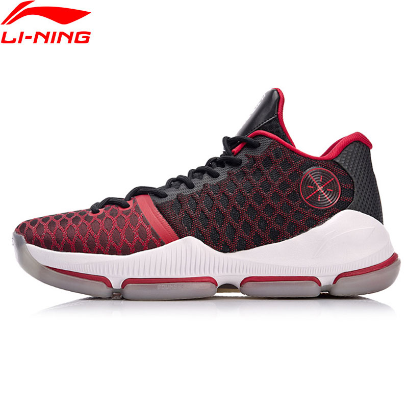 Li-Ning Men Shoes 2018 Wade FISSION III Winter Edition Professional Basketball Shoes LiNing Cloud BOUNSE + Sports Shoes ABAN011 li ning original men sonic v turner player edition basketball shoes li ning cloud cushion sneakers tpu sports shoes abam099