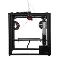 ZONESTAR Büyük Çift Ekstruder Mix Renk Boyutu 300x300x400 3D Yazıcı Otomatik Seviye Lazer Oyma Tam Metal alüminyum Çerçeve DIY kiti