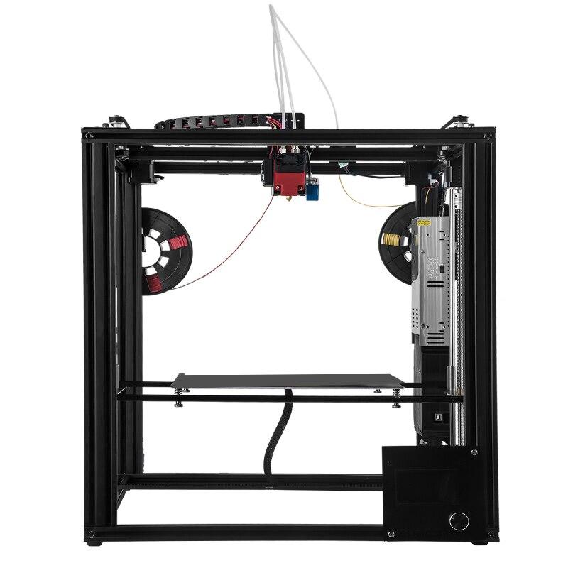 ZONESTAR Grand Dule Extrudeuse Mix Couleur Taille 300x300x400 3D Imprimante Automatique Niveau Laser Gravure En Métal cadre en aluminium BRICOLAGE kit