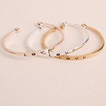 New womens stainless steel bracelet C cuff simple gothic wrist jewelry gifts