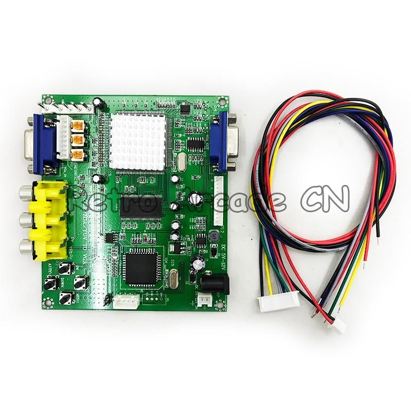 1PC RGB CGA EGA YUV To VGA HD Video Converter Board Moudle HD9800 GBS8200