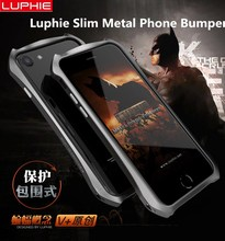 New For iPhone 7 7 Plus Luphie slim Metal phone Bumper Case for iPhone 6 6S 6 Plus Aluminum Bumper Frame Cover