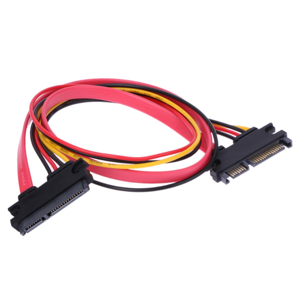 VAKIND 45cm SATA 22 Pin Male To Female Sata Extension Cable ATA Drive To Standard Internal Power Connector sata cable 45cm