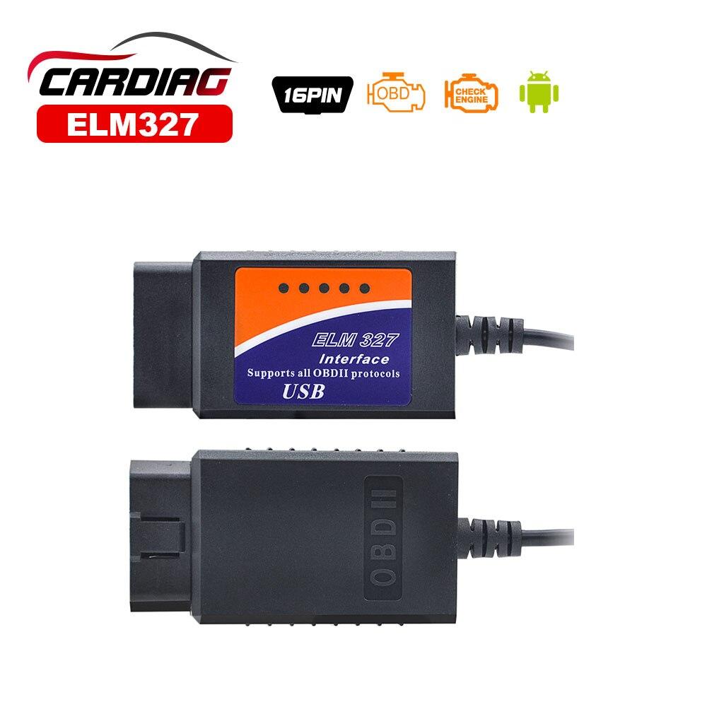 Prix pour 2017 Top Vente ELM327 USB Interface OBD2 Auto Code Scanner V1.5 OBDII OBD 2 II elm327 usb Outil De Diagnostic