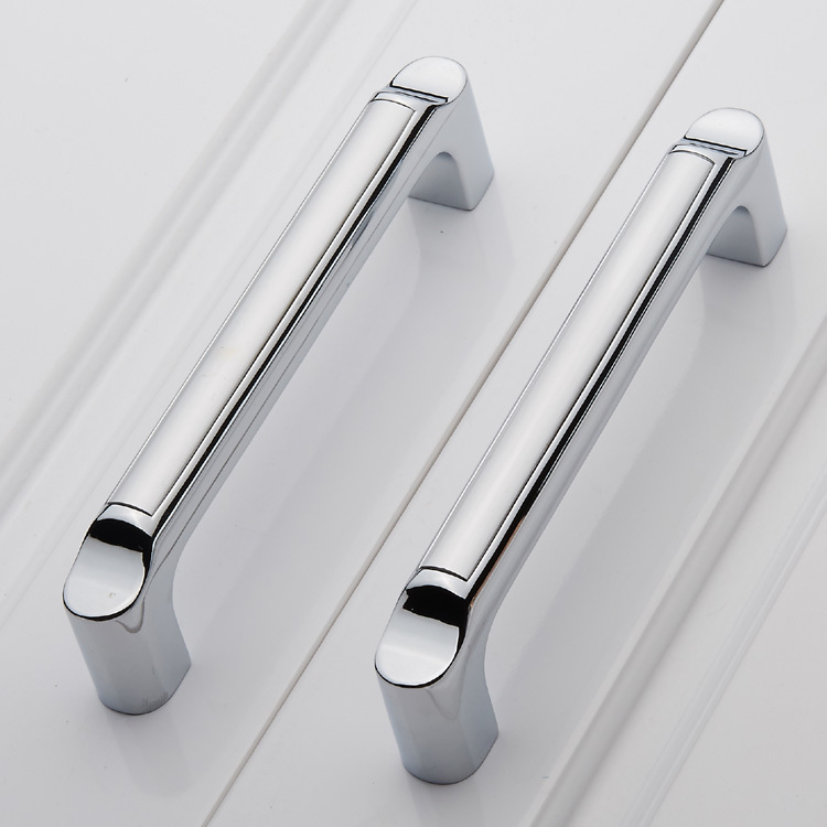 128mm Modern Furniture Handles Solid Zinc alloy Cabinet Drawer Pull Handles Cupboard Wardrobe Door Handle