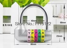 English letter Password locks DIY alphabet Combination lock Gym Gate 5 Digital Padlock pcs