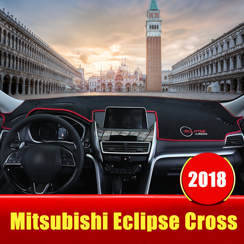 Per Mitsubishi Eclipse Croce 2018 2019 LHD Auto Cruscotto Copertura Dash Zerbino Non-slip Tenda Da Sole Pad Tappeti Trim accessori interniPer Mitsubishi Eclipse Croce 2018 2019 LHD Auto Cruscotto Copertura Dash Zerbino Non-slip Tenda Da Sole Pad Tappeti Trim accessori interni
