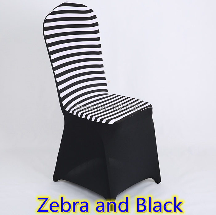 Kitchen Chair Covers Zebra Print Top Quality Lycra Spandex Stretch Banquet Cover For Wedding Decoration