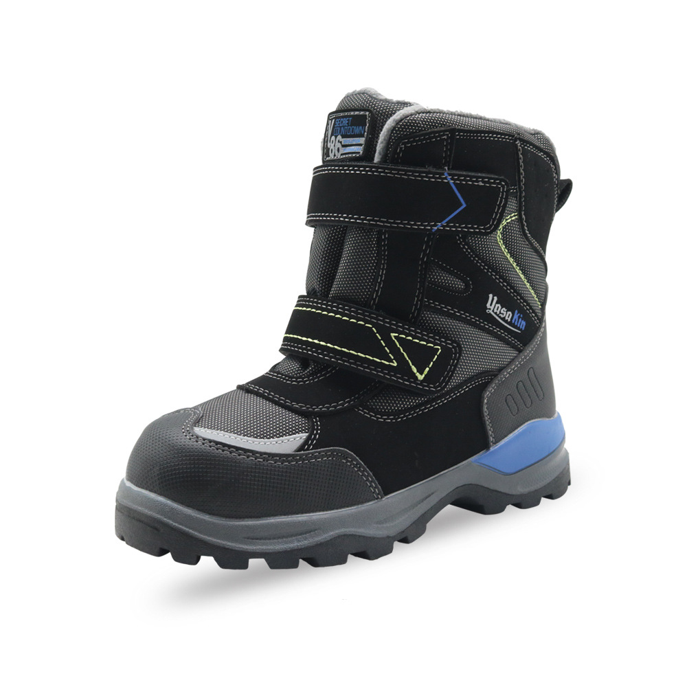ULKNN 2018 hiver nouveau garçon bottes de neige chaussures pour enfants garçons laine à l'intérieur chaud en plein air sports antidérapants chaussures pour enfants