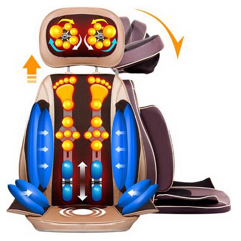 111217/ Home Office Full-Body Massage Cushion. Back Neck Massage Chair Massage Relaxation Car Seat. Heat Vibrate Mattress