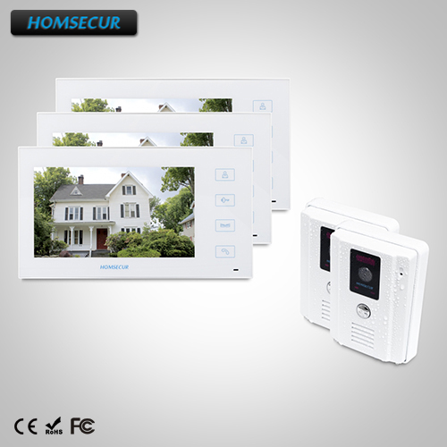 HOMSECUR 7 Video Door Entry Phone Call System Electric Lock Supported : TC011-W +TM704-W ...