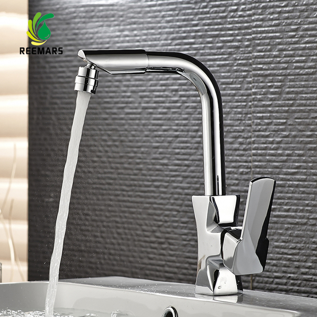 Genuine REEMARS High Quality Bathroom Faucets Mixer 360 Degree Swivel Easy  Wash For Basin Faucet And