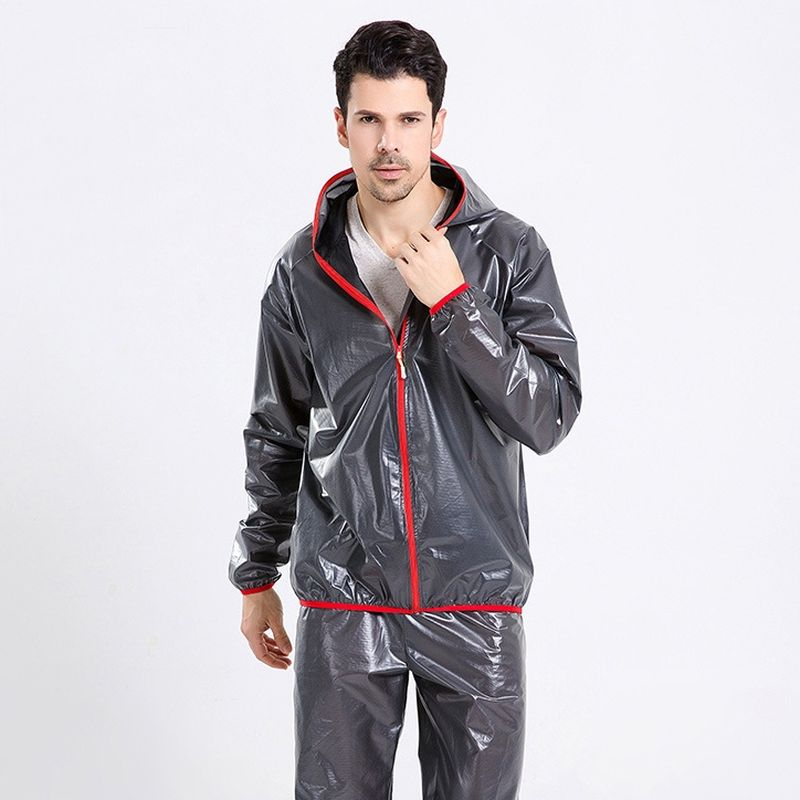 New Hiking Raincoat Jacket Travel Waterproof Windproof Ultralight pants Sport Suit Quick Dry Breathable Reflect Rain Coats 1 set(China)