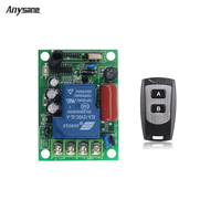 RF Remote Control And 30A RF Relay AC 220 V 433MHz 315 MHz 3000W Remote Control