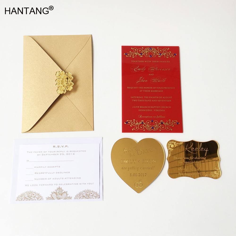Romantic Royal 115x175mm Rectangle Shape Red Acrylic Wedding ...