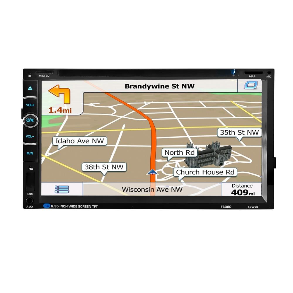 HEVXM/F6080 6,95 дюймовый автомобильный DVD плеер навигации автомобилей радио мультимедиа MP5 MP3 играть gps автомобильный навигатор-in GPS для транспорта from Автомобили и мотоциклы