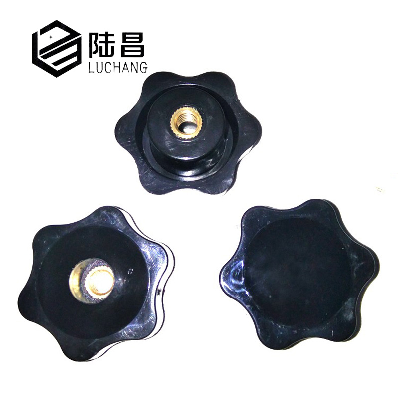 luchang-m5-m6-m8-m10-m12-plum-bakelite-hand-tighten-nuts-handle-female-thread-star-mechanical-black-thumb-lock-nut-clamping-knob