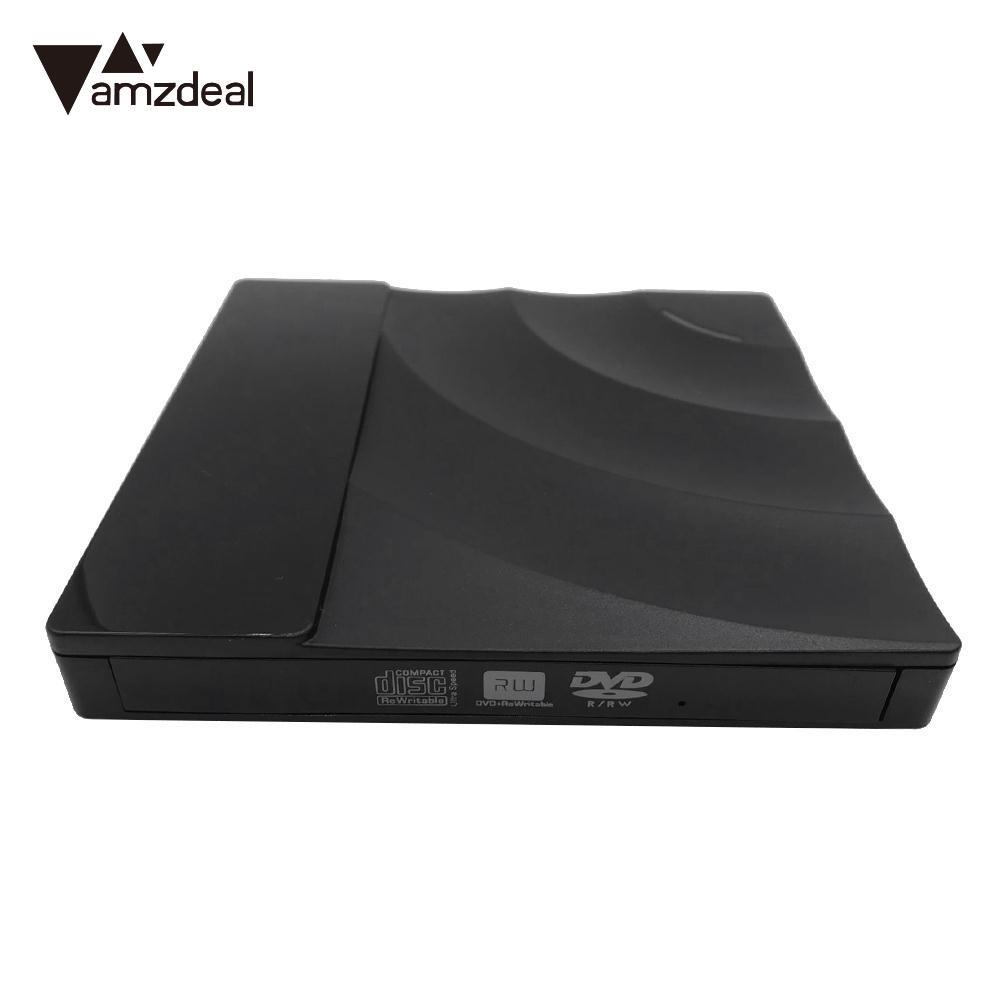 AMZDEAL Ultra Slim External USB3.0 DVD CD R / RW Burner External DVD Driver External Recorder / Player for Laptop Desktop