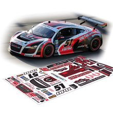 RC car R8 AUDI Decals/Stickers For 1/10 Scale Onroad Fouring Drift HPI KYOSHO TAMIYA HSP REDCAT FS TOYOTA YOMOHA(China)