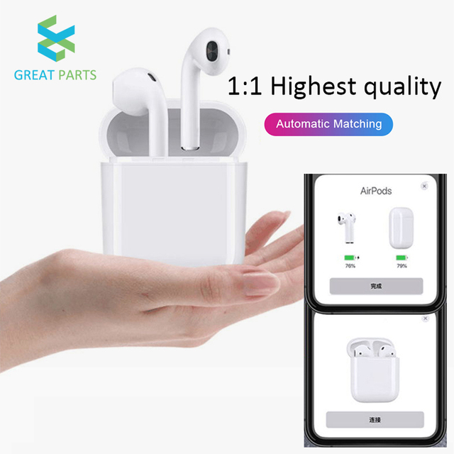 2019 Pop up function 1 1 Copy for Airpods Wireless Bluetooth Earphone headphones For iPhone 7