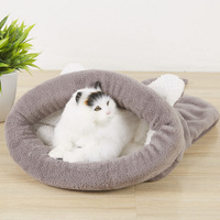 Cute Cat Sleeping Warm Bag Dog Bed Pet Puppy House Soft Mat Cushion Pets Accessories TB