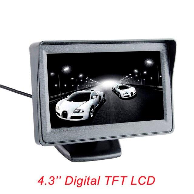 Viecar 4,3 pulgadas TFT color LCD monitor del coche del estacionamiento del rearview backup 4,3 ''PAL/NTSC envío libre