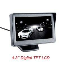 Viecar 4.3-inch color TFT LCD monitor display Car parking rearview backup 4.3'' video PAL/NTSC FREE SHIPPING