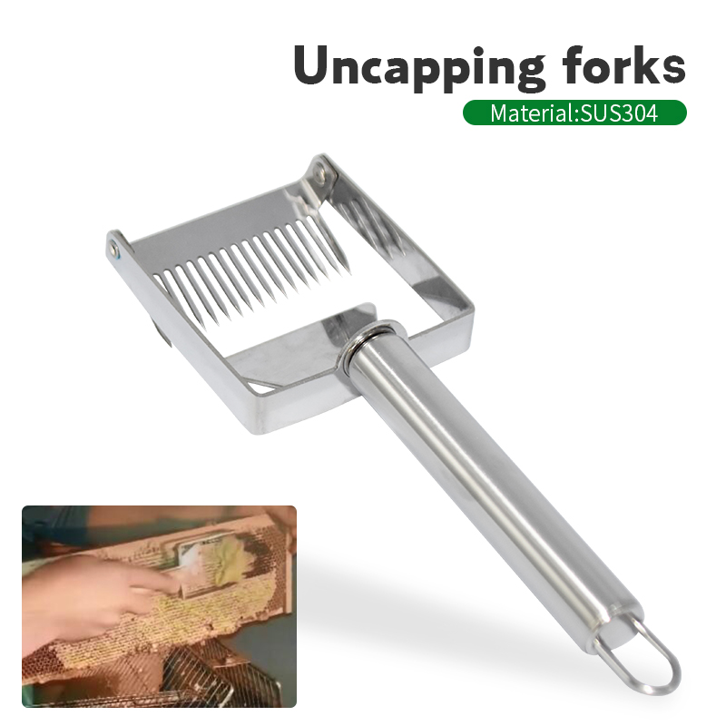 Stainless Steel Honey Scraper Fork Honeycomb Honey Uncapping Fork Shovel Equipment Beekeeping Tools