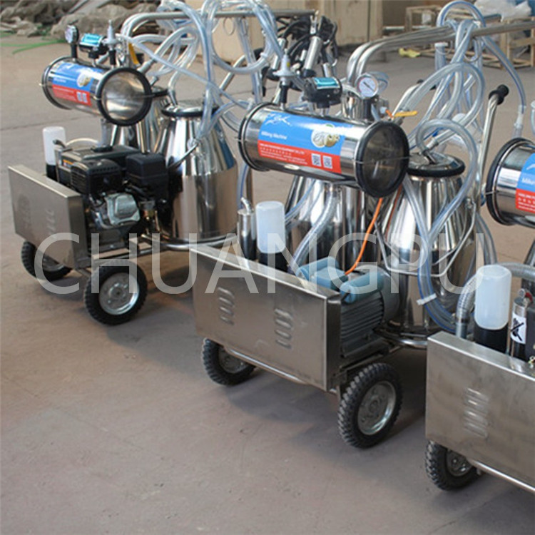 Gasoline Engine Portable Milking Machine for Milking 2cows at one time