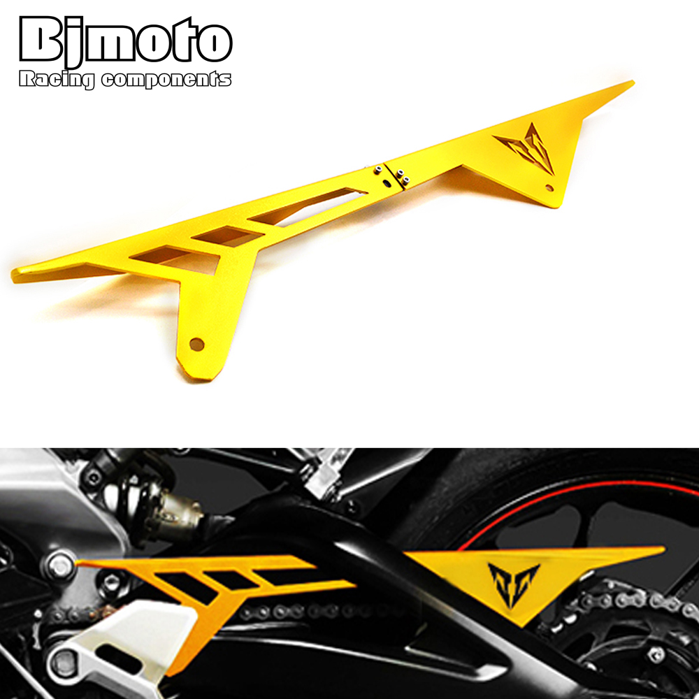 BJMOTO Motorcycle CNC Aluminum Chain Guards Cover Protector Gold For Yamaha MT-09 MT09 FZ9 2013 2014 2015