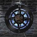 1 шт. морской навигации 3D декор светодиодный настенный светильник Матросская комната ночной Светильник настенные часы художественный комп...