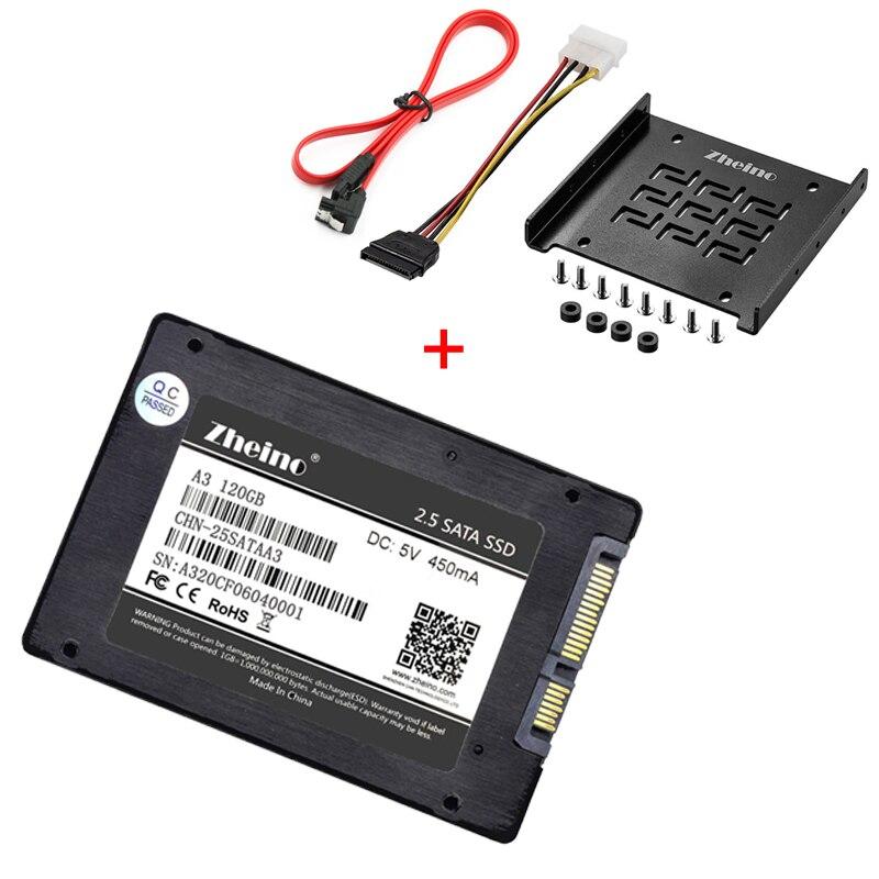 Zheino SATAIII SSD DA 120 gb 240 gb 360 gb 480 gb 960 gb 128 gb 256 gb 512 gb SSD di alluminio Adattatore Di Montaggio Staffa Per Desktop