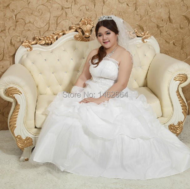 Free Shipping Extra Large Plus Size Top Bride Wedding Dress Drop