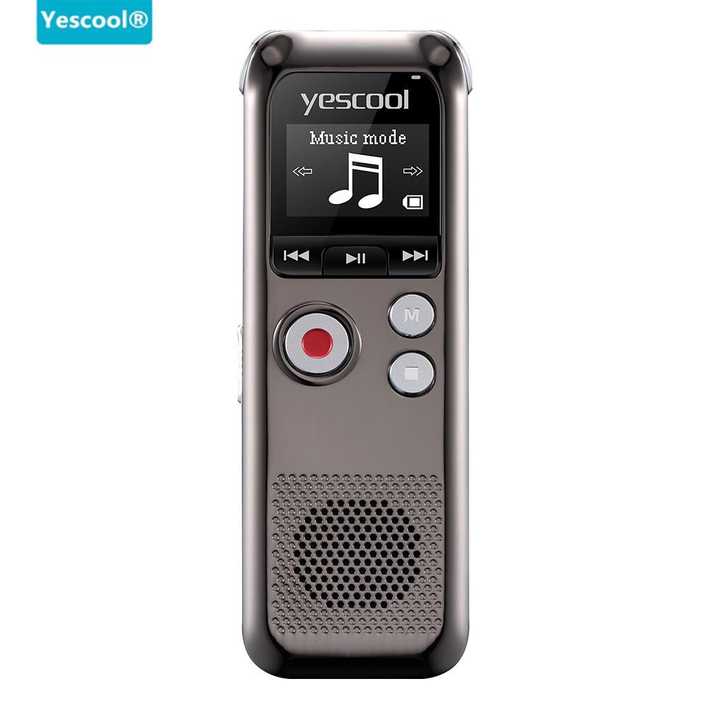 Yescool recharge rapide 8 GB Microphone bidirectionnel professionnel enregistreur vocal numérique Dictaphone espia enregistreur audio lecteur MP3 - 2